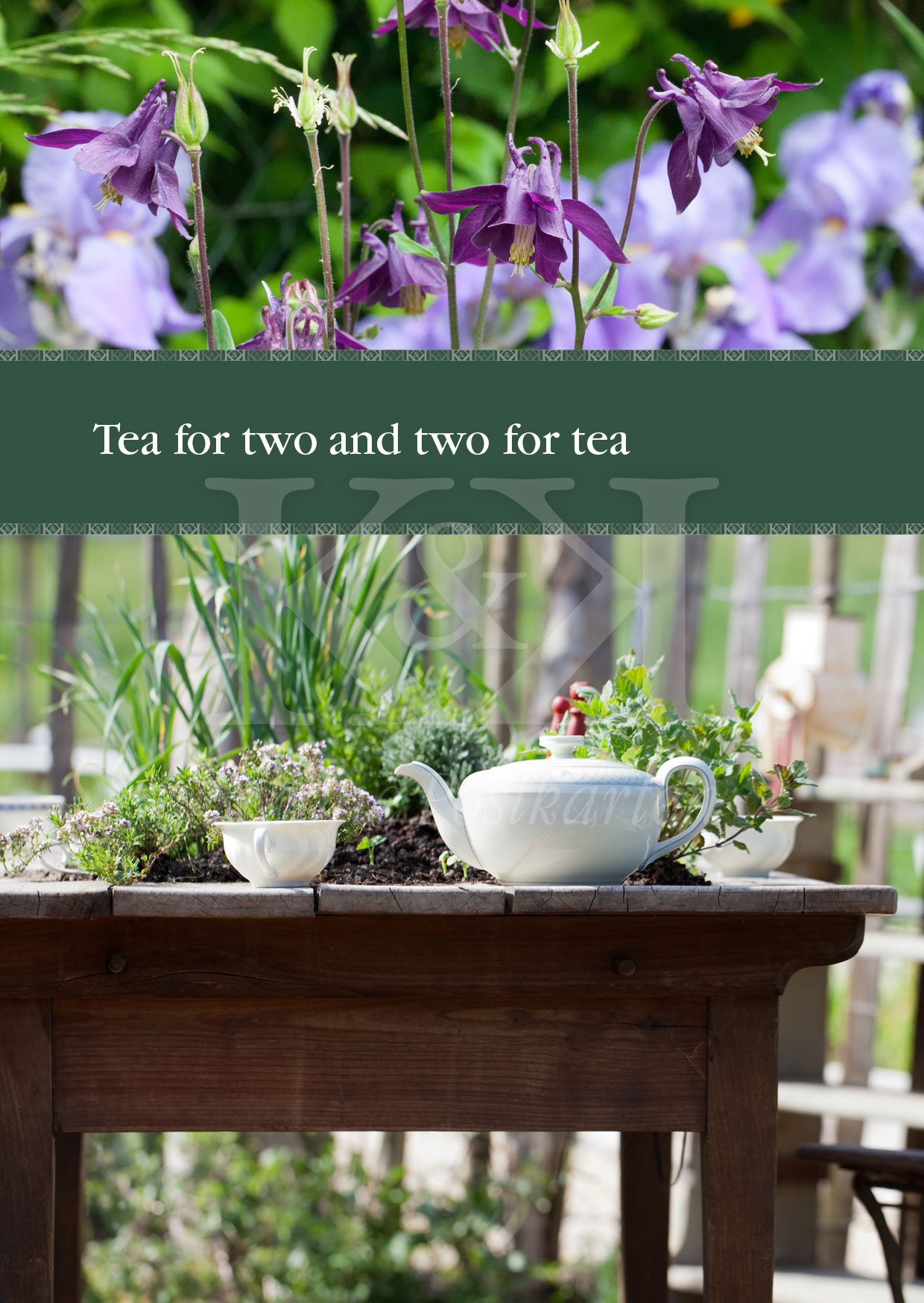 Schöne Postkarte Nr. 11 · Tea for two and two for tea · © 2017