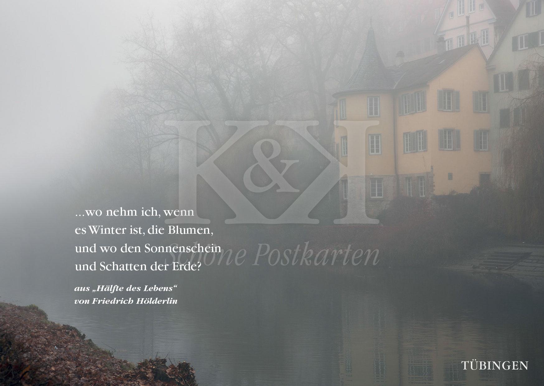 <strong>Schöne Postkarte Nr. 93</strong> · Hölderlinturm in Tübingen am Neckar · © 2017