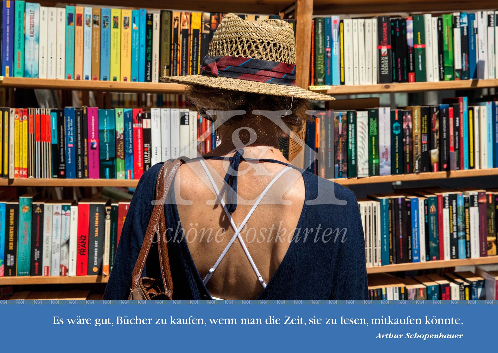 <strong>Schöne Postkarte Nr. 230</strong> · Tübinger Bücherfest: Rücken an Rücken © 2018