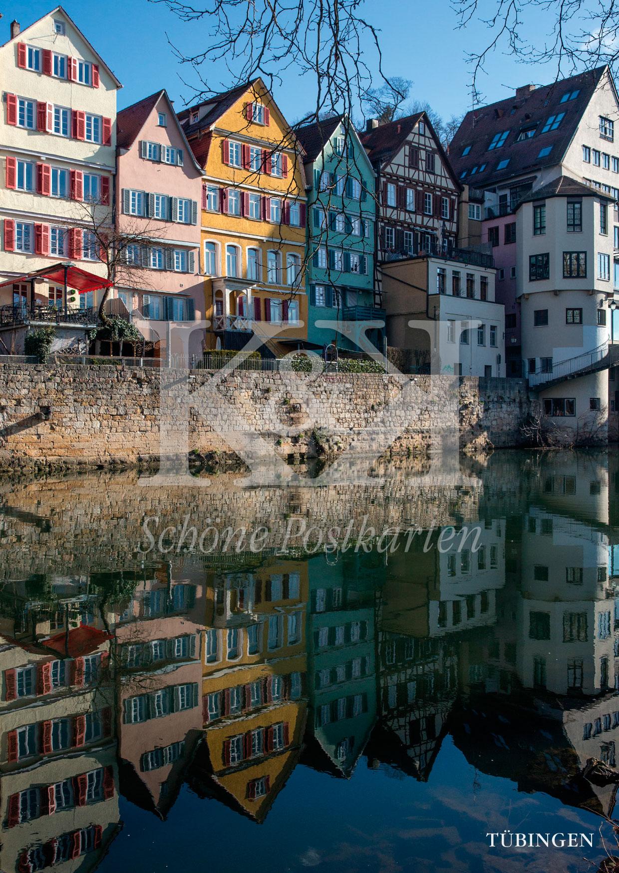 <strong>Schöne Postkarte Nr. 242</strong> · Teil der Neckarfront in Tübingen © 2018