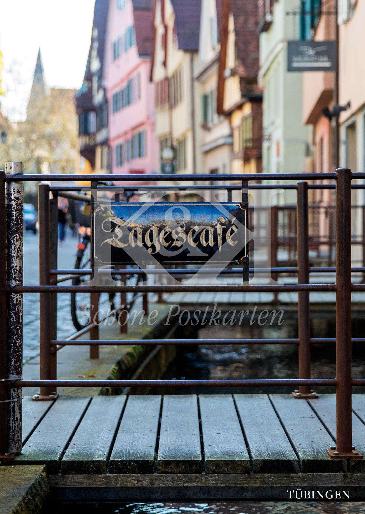 <strong>Schöne Postkarte Nr. 247</strong> · Tagescafé: Ammergasse in Tübingen © 2018