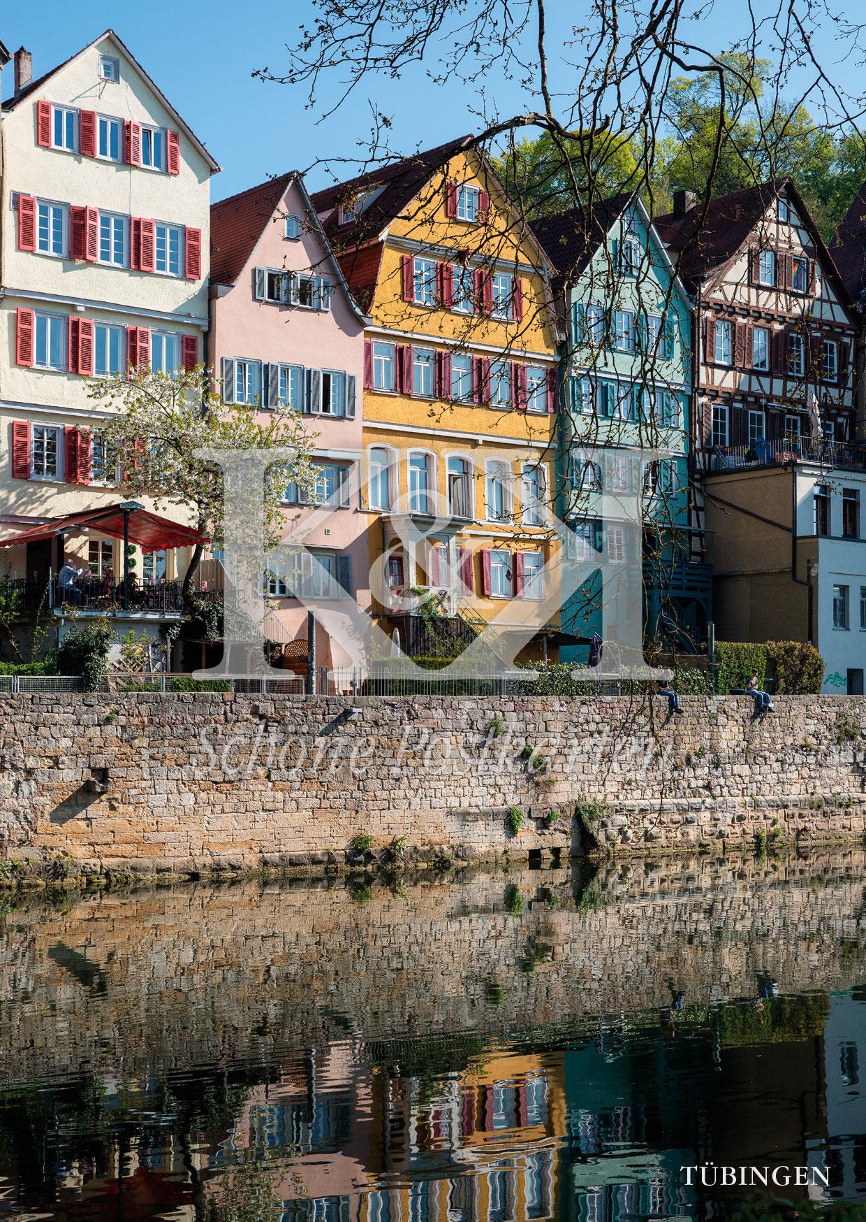<strong>Schöne Postkarte Nr. 249</strong> · Häuser am Neckar in Tübingen © 2018