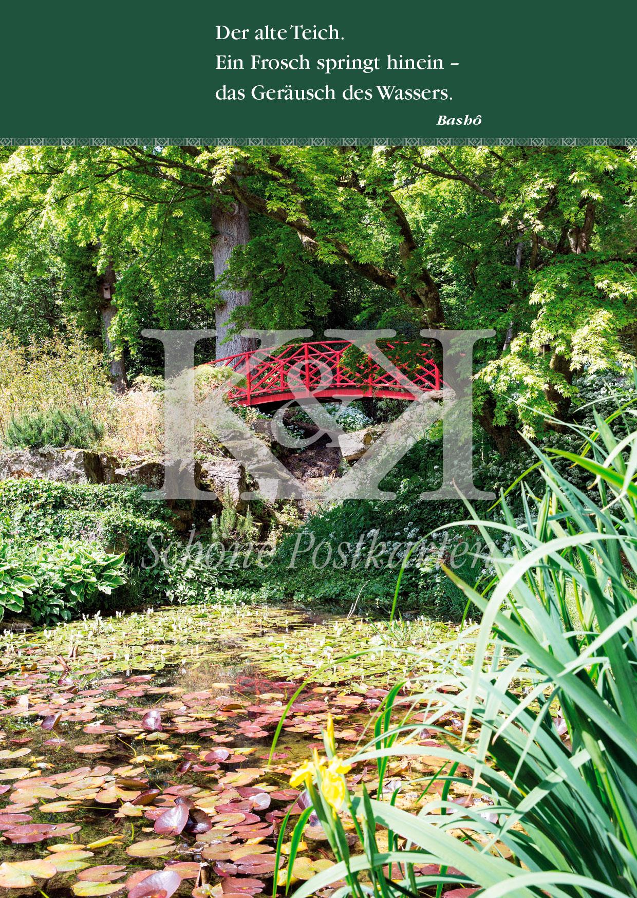 <strong>Schöne Postkarte Nr. 57</strong> · Bashô: Alter Teich mit Frosch © 2018