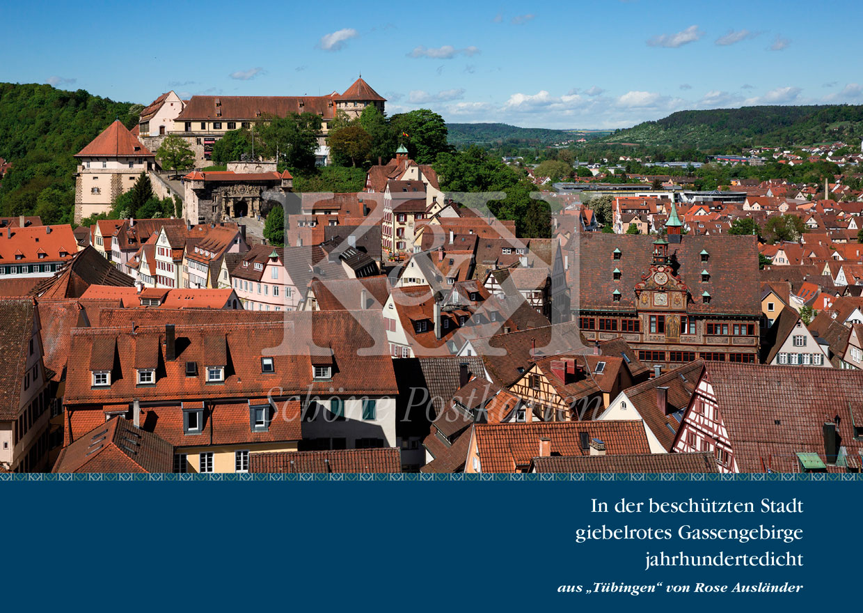 Schöne Postkarte Nr. 150 · Tübinger Gassengebirge. Rose Ausländer © 2018