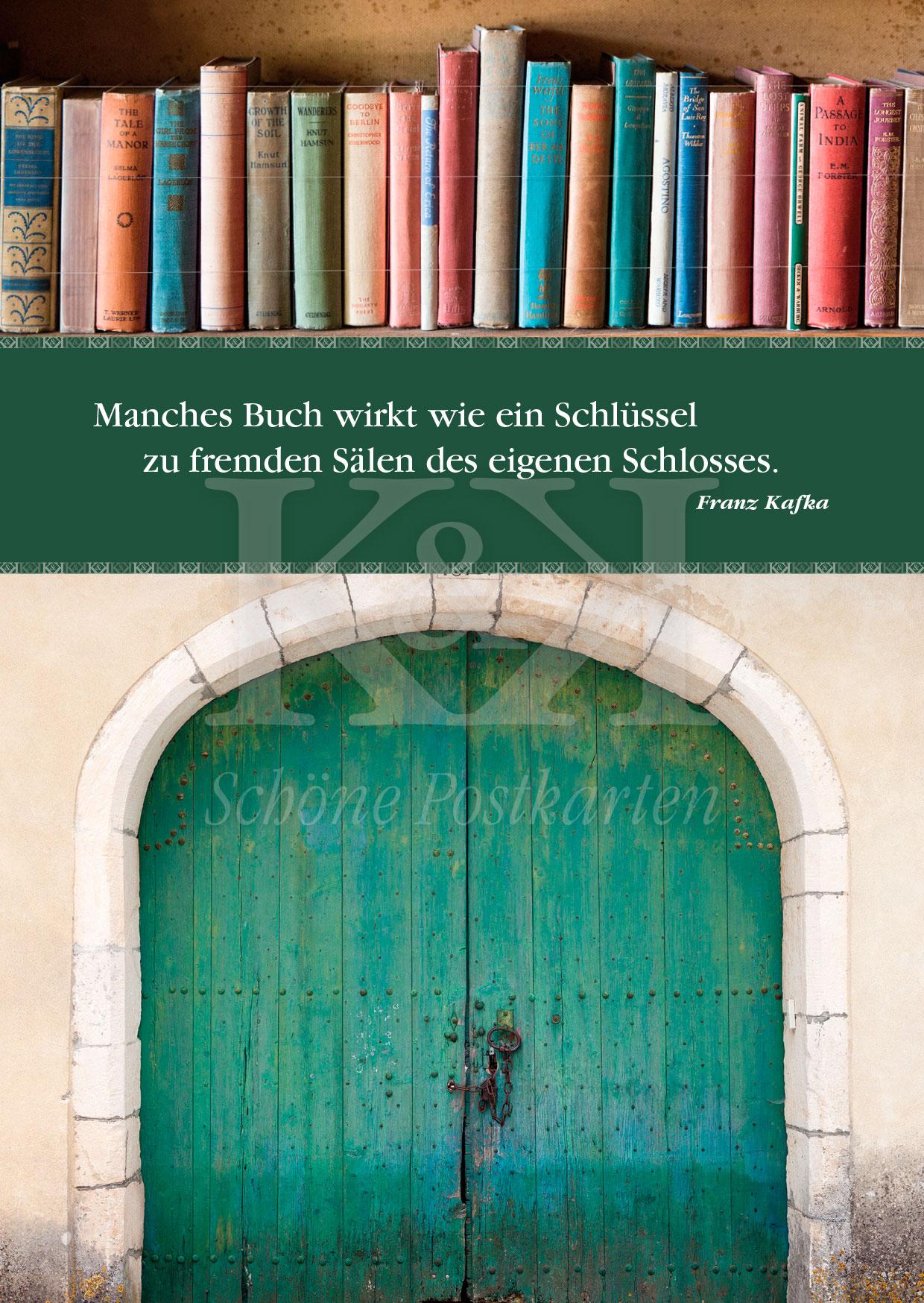 Schöne Postkarte Nr. 173 · Franz Kafka: Bücher sind Schlüssel © 2018