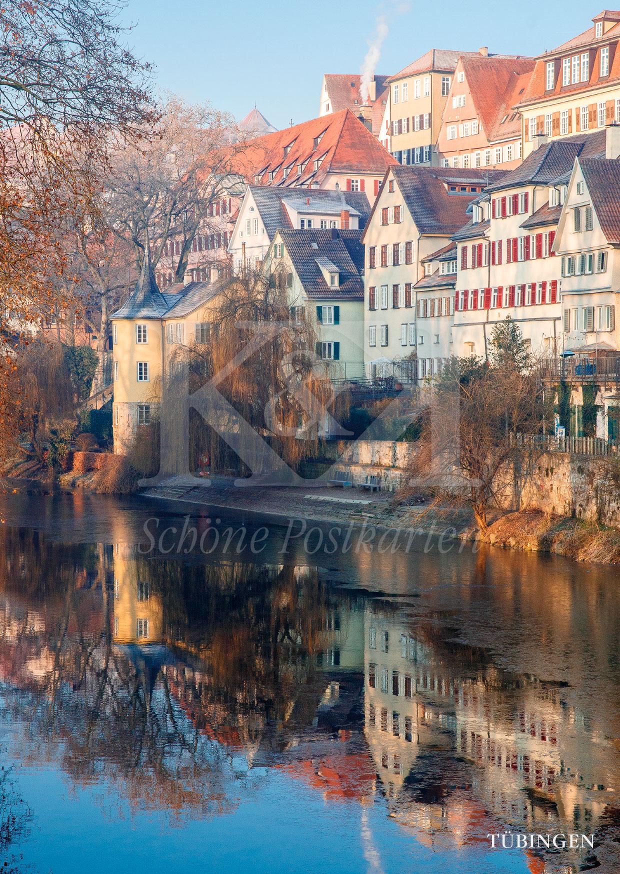 Schöne Postkarte Nr. 193 · Hölderlinturm in Tübingen im Winter © 2018
