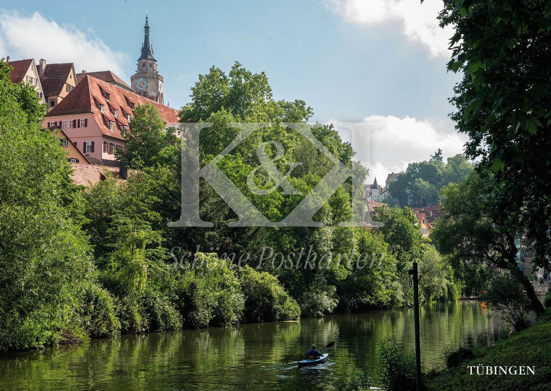 Schöne Postkarte Nr. 250 · Tübingen: Kanufahren auf dem Neckar © 2018