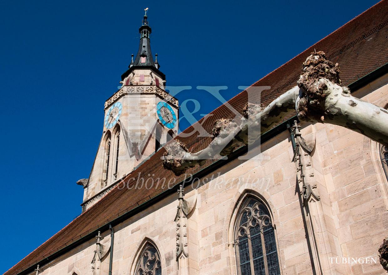 Schöne Postkarte Nr. 254 · Stiftskirche Tübingen © 2018