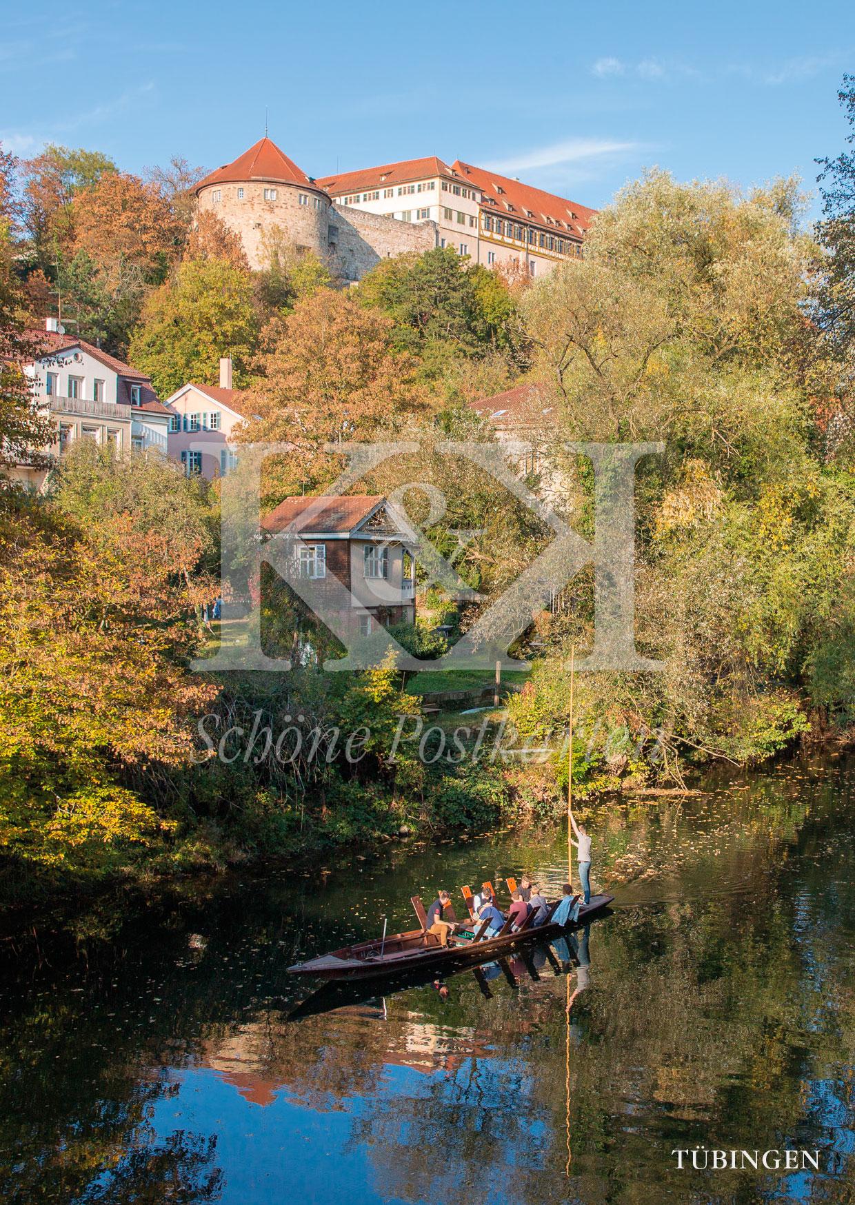 Schöne Postkarte Nr. 92 · Stocherkahn auf dem Neckar, Tübingen © 2018