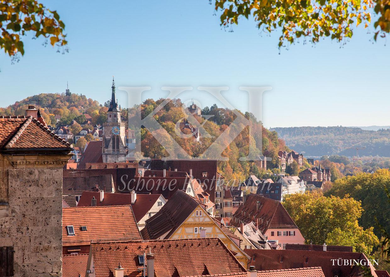 Schöne Postkarte Nr. 99 · Tübinger Altstadt mit Österberg © 2018