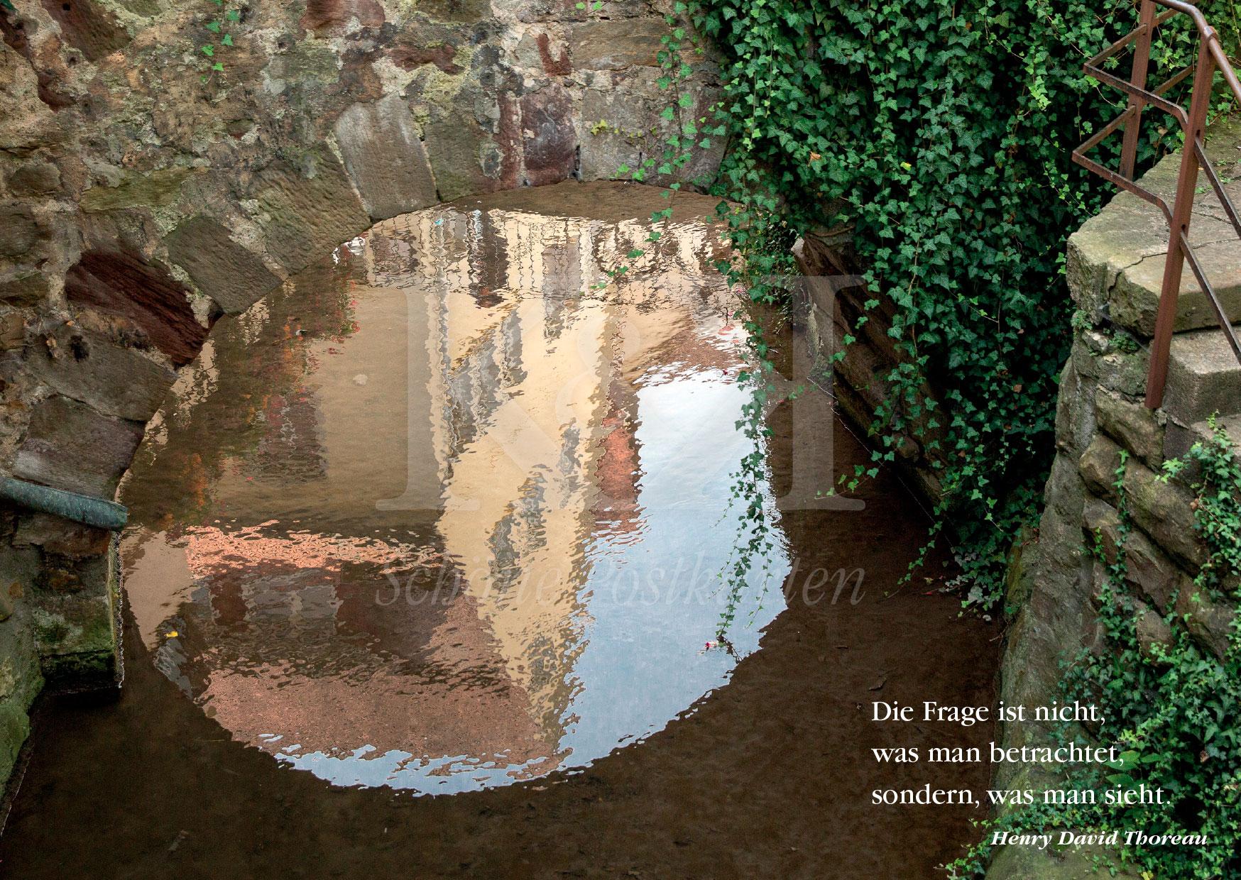 >>> NEU: Schöne Postkarte Nr. 30 · Die Ammer in Tübingen zwischen Nonnenhaus und Café Piccolo Sole d'Oro