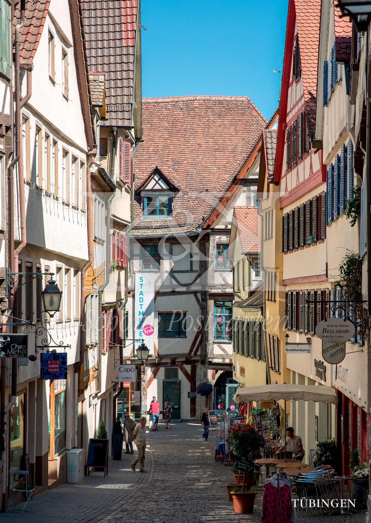 >>> NEU: Schöne Postkarte Nr. 58 · Marktgasse in Tübingen