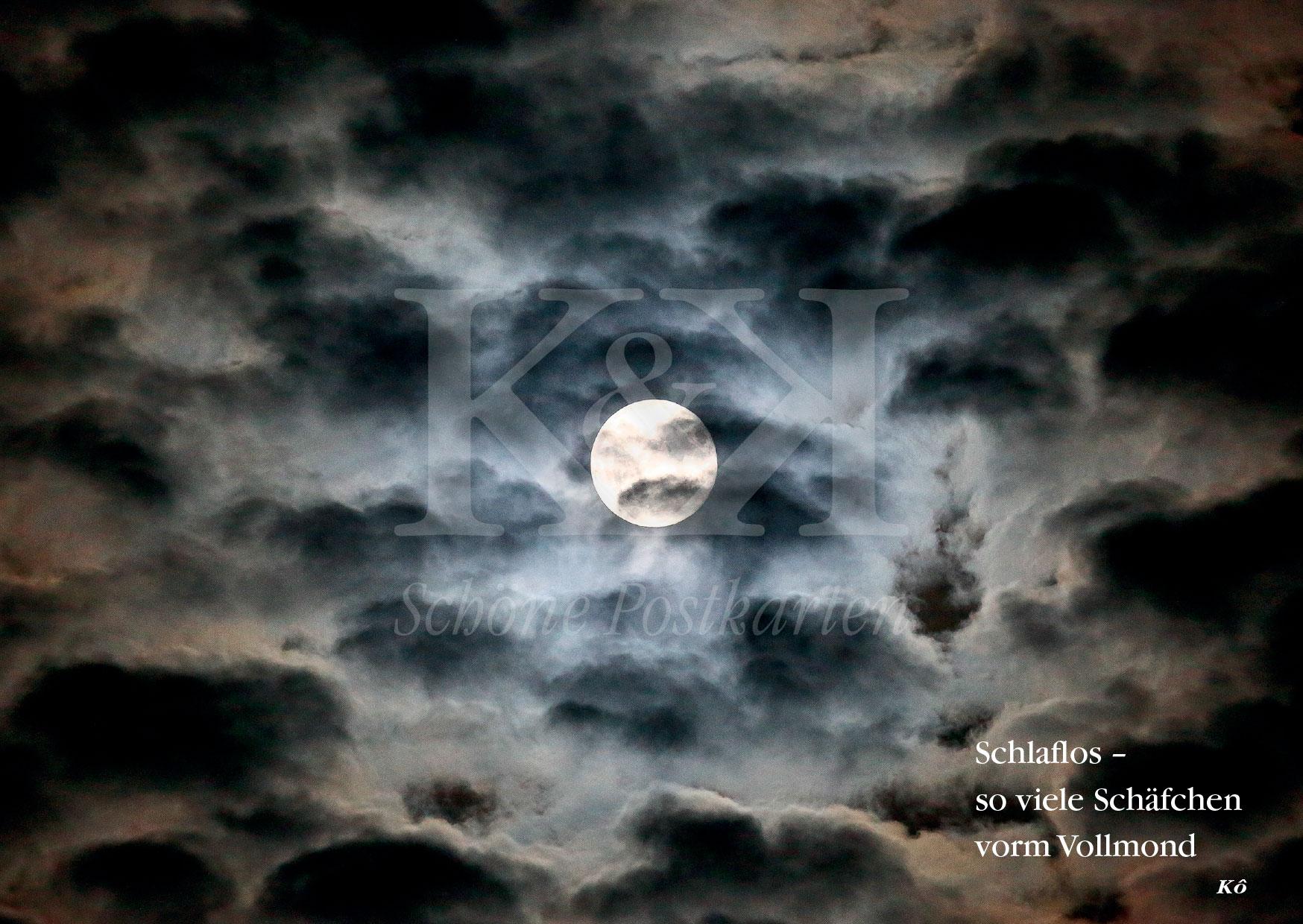 >>> NEU: Schöne Postkarte Nr. 69 · Für Schlaflose und Mondsüchtige