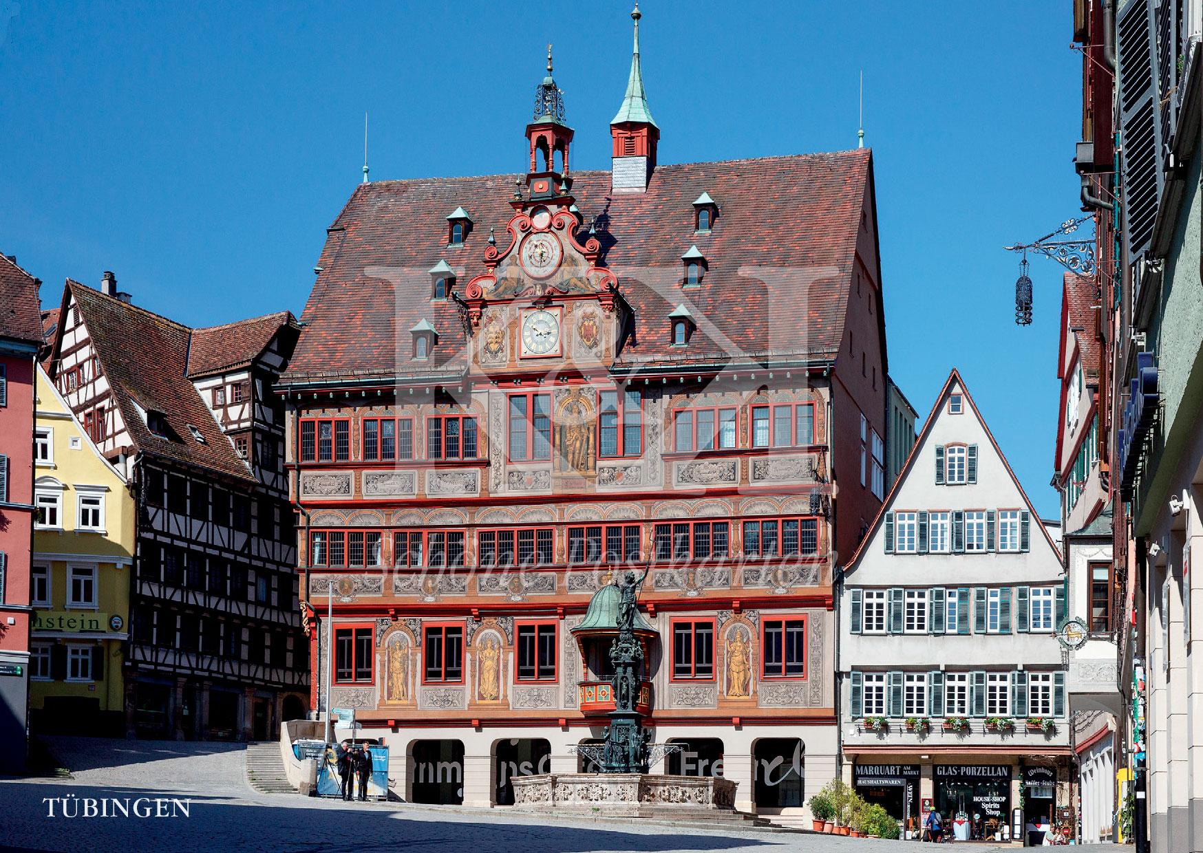 >>> NEU: Schöne Postkarte Nr. 81 · Rathaus Tübingen, ab 1435 gebaut und mehrfach erweitert und renoviert