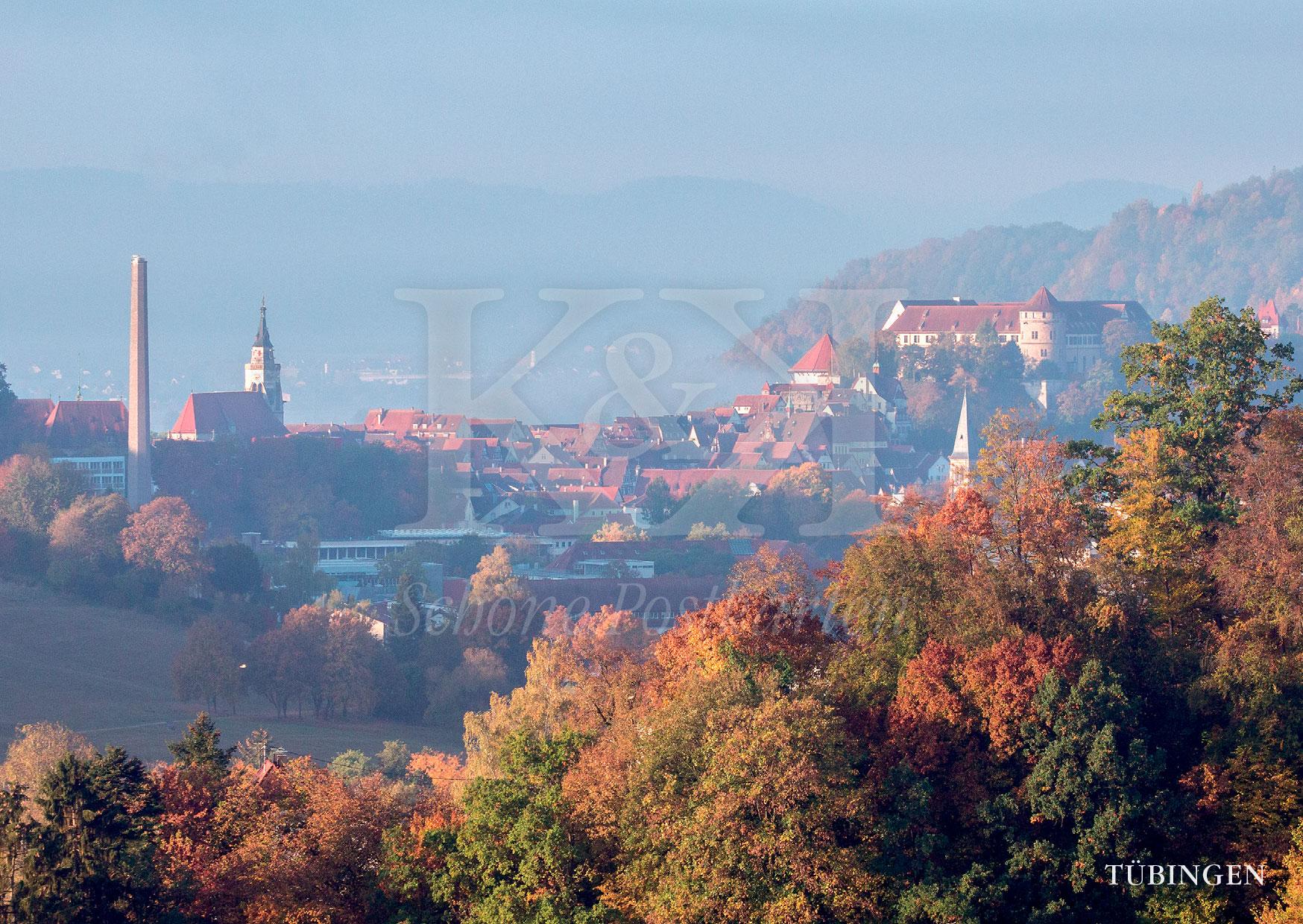 >>> NEU: Schöne Postkarte Nr. 98 · Altstadt von Tübingen im Herbst