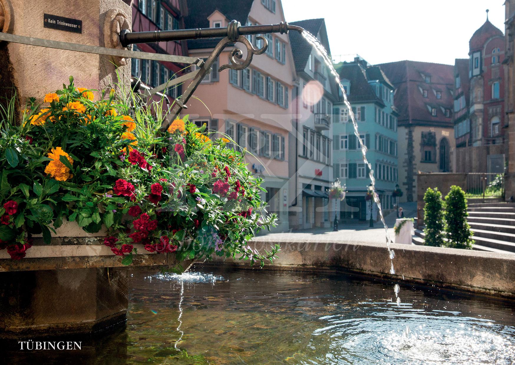 >>> NEU: Schöne Postkarte Nr. 91 · Georgsbrunnen am Holzmarkt in Tübingen